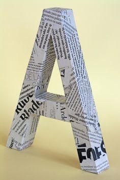 Cómo hacer letras con cartón | Aprender manualidades es facilisimo.com                                                                                                                                                     Más