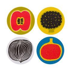 Colorful coasters by Marimekko