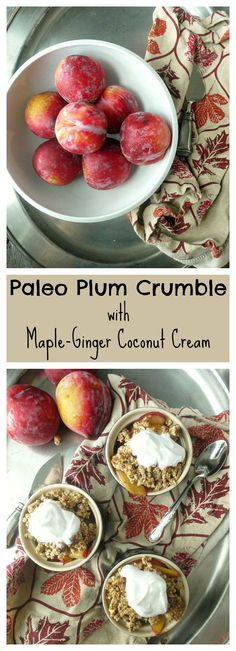 This delectable dessert is #paleo and #vegan! It's a great way to use up those summer plums.