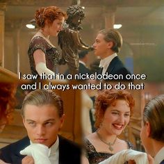 Such a cute and funny scene with young Leo in The Titanic