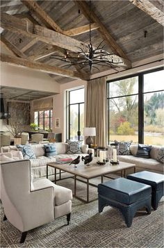 If you are looking for Farmhouse Living Room Flooring Ideas, You come to the right place. Here are the Farmhouse Living Room Flooring Ideas. Farm House Living Room, Living Room Modern, Living Room Remodel, Trendy Living Rooms, Cabin Room Design, Rustic Living Room, Modern Farmhouse Kitchens, Living Decor, Rustic House