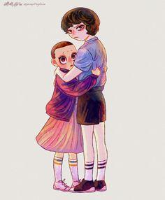 Finn Stranger Things, Stranger Danger, Enola Holmes, Cool Drawings, Fan Art, Disney Characters, Cute, Sadie Sink, Icarly