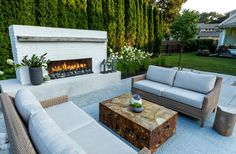The Hottest Upscale Outdoor Fire Features Outdoor Fireplace Designs, Backyard Fireplace, Backyard Patio Designs, Backyard Landscaping, Backyard Pavilion, Backyard Projects, Backyard Ideas, Outside Living, Outdoor Living