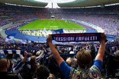 @Hertha fans in Olympiastadion Berlin #9ine