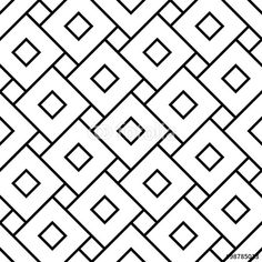 Vector: Vector modern seamless geometry pattern squares, black and white abstract geometric background, pillow print, monochrome retro texture, hipster fashion design