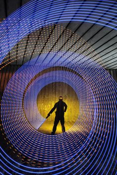 Interesting Photo of the Day: Epic Light Painting Self Portrait