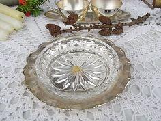 Vintage Schalen - alte BMF Kristall Silber Schale shabby chic - ein Designerstück von artdecoundso bei DaWanda
