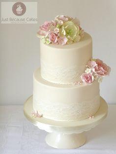 Vintage Inspired Lace Wedding Cake