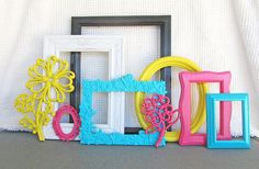 Repurpose old frames with paint