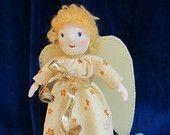 Gloriosa, Christmas Treetop Angel, Christmas Angel,  OOAK, Waldorf inspired, collectible art doll, collectors's doll