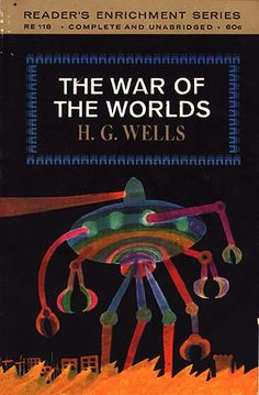 The War of the Worlds by H.G. Wells.  Published by the Washington Square Press in 1964.  Reader's Enrichment Edition.