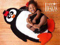 Penguin Animal Rug Mat Carpet Christmas Decoration.Crochet Pattern by IraRott