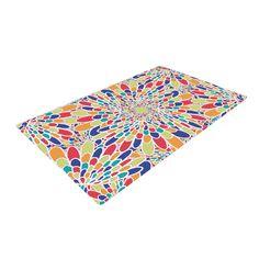"Miranda Mol ""Flourishing Blue"" Multicolor Geometric Woven Area Rug"