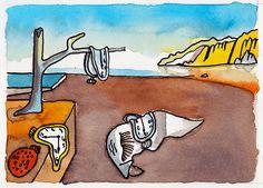 """""""A Persistência da Memória"""", de Salvador Dalí   by Shitty"""