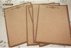 Retro Style Kraft Letter paper Writing Paper Roma & Rose Design 12sets/lot (10 sheets/set)