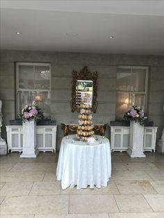 Wedding Pillar Arrangement Cake Flowers, Wedding Cakes With Flowers, Wedding Pillars, Special Day, Ladder Decor, Table Decorations, Floral, Home Decor, Decoration Home