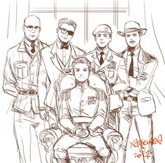 'Royalty Daddies' from left: Merlin, Harry Hart, Lee Unwin, Agent Whiskey Kingsman: The Golden Circle fanart by Xanseviera Merlin Kingsman, Kingsman Harry, Eggsy Kingsman, Golden Circle, Artwork Pictures, Fantastic Beasts, Cute Drawings, Art Reference, Graffiti