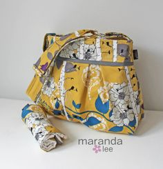 Stella Diaper Bag Large Changing Pad Set  Finnelopy by marandalee, $112.00