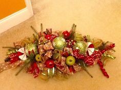 A personal favorite from my Etsy shop https://www.etsy.com/listing/254354755/christmas-centerpiece-christmas-wreath