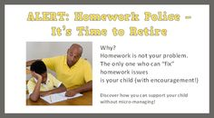 Visit vickihoefle.com to learn how parents can be supportive without patrolling homework! #kids #school #homework