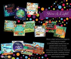 Shine-A-Light books are incredible books packed with non-fiction information and keep you child interested with a interactive story format.