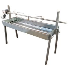 Specialist advice and fast delivery on the Extendable Large Charcoal BBQ Spit Roast Rotisserie BBQ Spit Rotisseries The Outdoor Cooking Specialists Best Charcoal Grill, Charcoal Bbq, Bbq Grill, Barbecue, Grilling, Bbq Spit, Stainless Steel Grill, Bbq Tools, Backyard Bbq