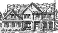 Farmhouse House Plan with 2497 Square Feet and 4 Bedrooms from Dream Home Source | House Plan Code DHSW73813