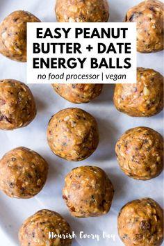 Vegan Snacks, Healthy Snacks, Healthy Eating, Protein Snacks, Healthy Protein Balls, Date Protein Balls, Clean Eating, Healthy Sweets, Protein Bars