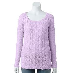 SONOMA life + style® Popcorn Cable-Knit Sweater - Women's