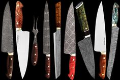 Bob Kramer Knives...insane attention to detail, passion, sharpness, and $!! (let alone the waiting list for one)  But nonetheless, I would almost sell an arm, leg, or kidney for one- to frame in my kitchen. drool.