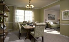 The Thurmont II dining room from @Lennar Maryland is decorated with perfectly soft green!