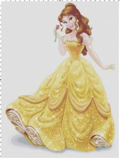 Belle cross stitch pattern PDF by Bluegiantstitch on Etsy, £2.30