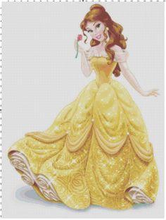 Belle cross stitch pattern PDF by Bluegiantstitch on Etsy, £2.30
