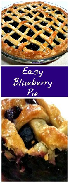 Blueberry Pie A wonderful Blueberry filled pie, delicious served warm or cold, and don't forget the blob of ice cream or whipped cream!