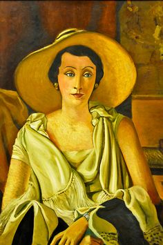 Andre Derain- 1929, Portrait de Madame Paul Guillaume au grand chapeau