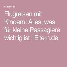 Flugreisen mit Kindern: Alles, was für kleine Passagiere wichtig ist   Eltern.de