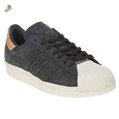 more photos f733a ec49f Adidas Womens Superstar 80s Black Nubuck Leather Trainers 7.5 US - Adidas  sneakers for women (