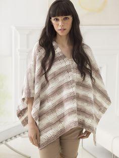Tilda Poncho (Crochet) - Patterns - Lion Brand Yarn