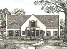 Spanish/Med. House Plan chp-21964 at COOLhouseplans.com