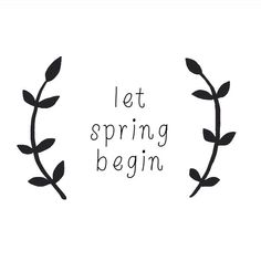 yes please~ let spring begin