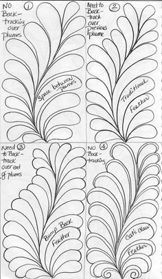 feather quilting - Google Search