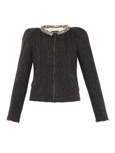 Huntley embellished wool jacket   Isabel Marant   MATCHESFASHI...