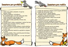 desatero pro prvňáčky - Hledat Googlem Primary Teaching, Crafts For Kids, Kindergarten, Preschool, Classroom, Education, Children, Literatura, Crafts For Children