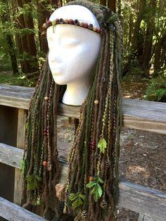 Tribal perruque déesse Diancecht par lotuscircle sur Etsy
