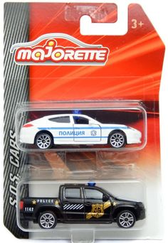 Majorette 209B Porsche Panamera Bulgarian Police & 203 VW Amarok 2 Pieces Set