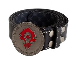 J!NX : World of Warcraft Horde Leather Belt