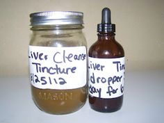 Liver tincture...for cleansing and healing liver after antibiotics or from environmental damages