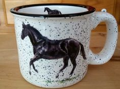 Black Canter White Trail Mug Rustic Mugs, Trail, Display, Gift Ideas, Tableware, Gifts, Black, Floor Space, Dinnerware