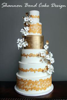 Elegant Indian Wedding Cake - Cake by Shannon Bond Cake Design