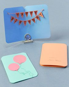 Create a balloon card and banner diy birthday diy ideas diy crafts banner birthday card martha stewart crafts i would dress this up alot more solutioingenieria Gallery